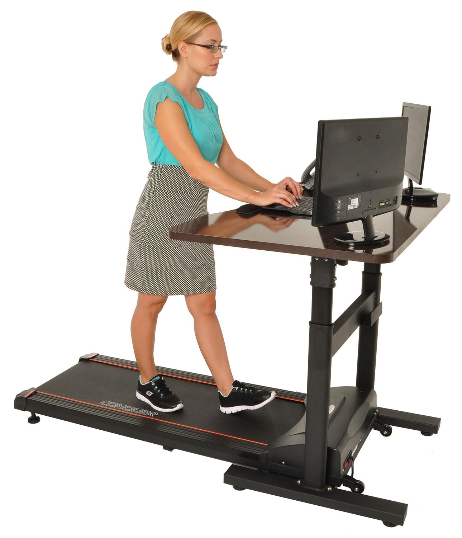 conquer electric treadmill standing walking desk. Black Bedroom Furniture Sets. Home Design Ideas