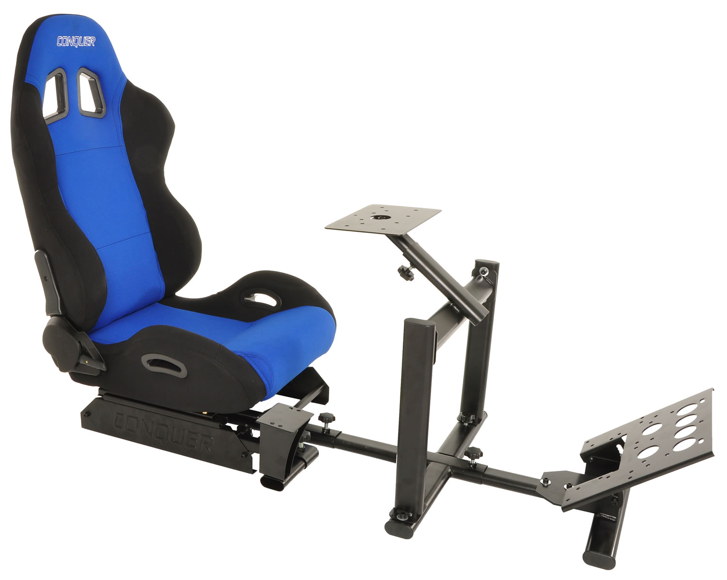 Conquer-Racing-Simulator-Cockpit-Driving-Seat-Reclinable-with-Gear-Shifter-Mount