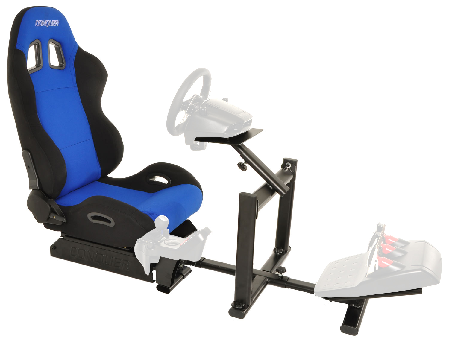 Conquer-Racing-Simulator-Cockpit-Driving-Seat-Reclinable-with-Gear-Shifter-Mount miniatuur 13