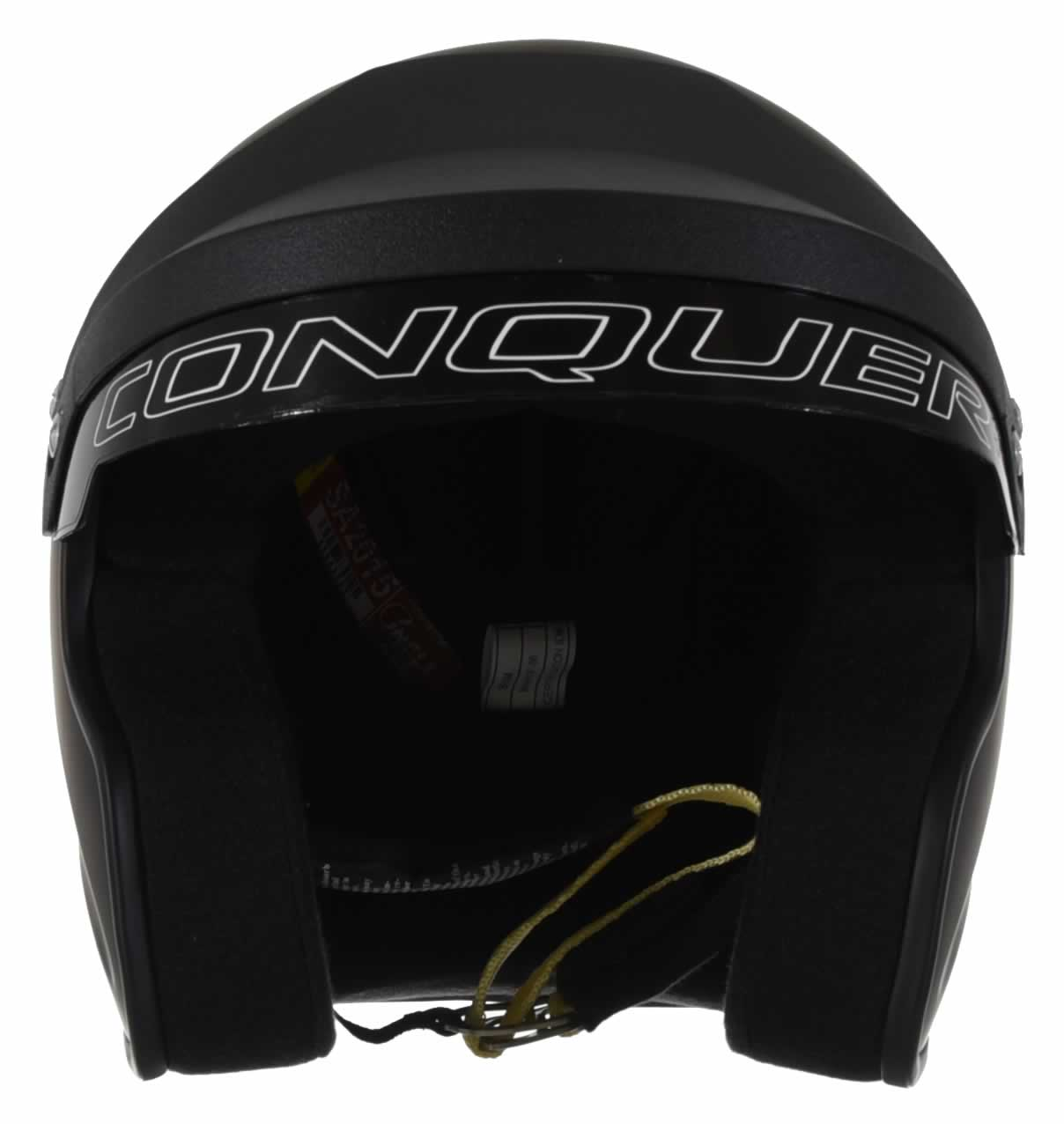 Conquer-Snell-SA2015-Approved-Open-Face-Racing-Helmet thumbnail 17