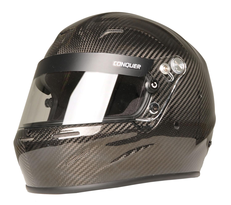 Conquer Carbon Fiber Full Face Auto Racing Helmet Snell