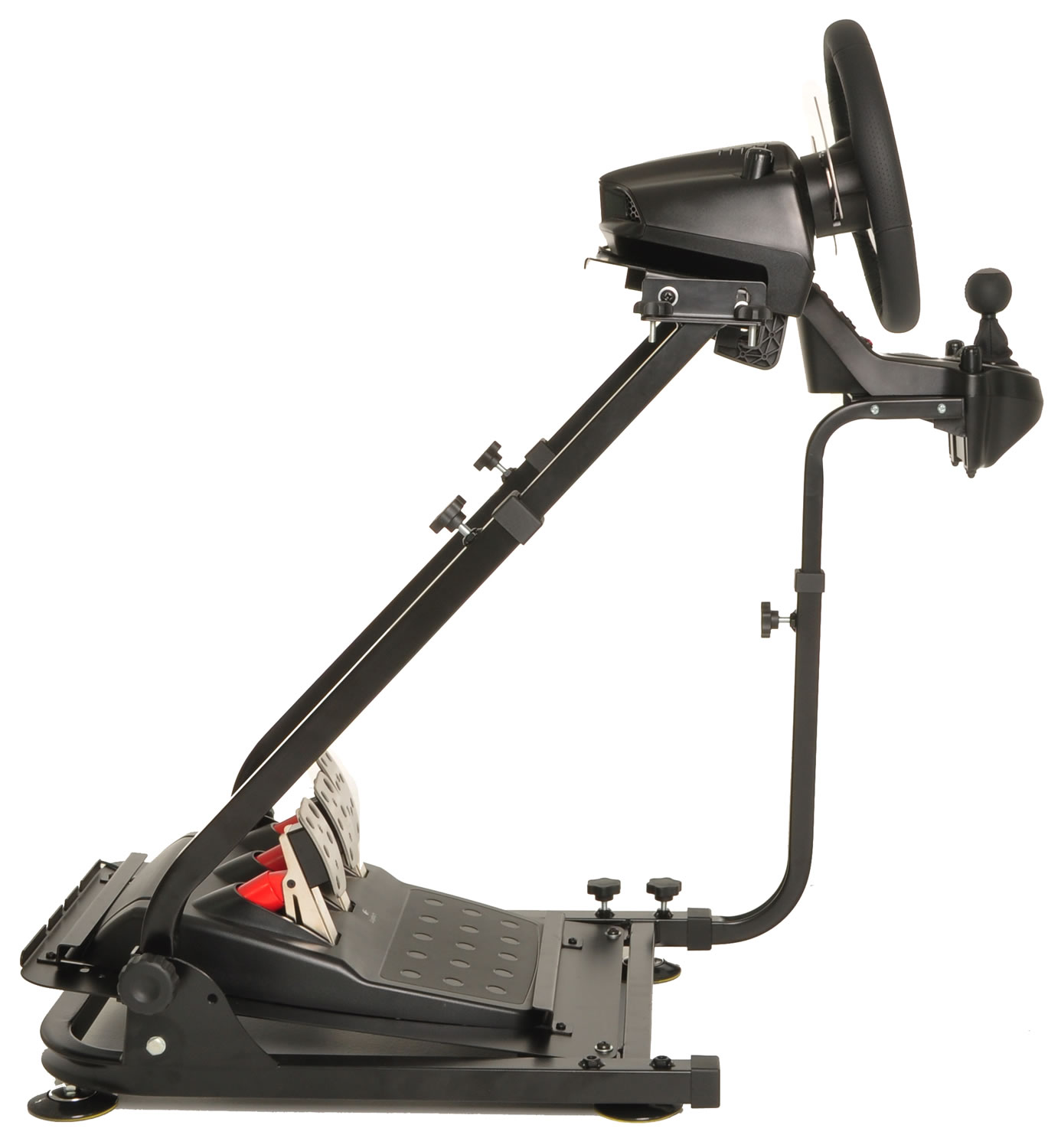 Conquer-Racing-Simulator-Driving-Gaming-Wheel-Stand-and-Gear-Shifter-Mount